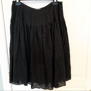 Peter Nygard 100% Linen black midi skirt